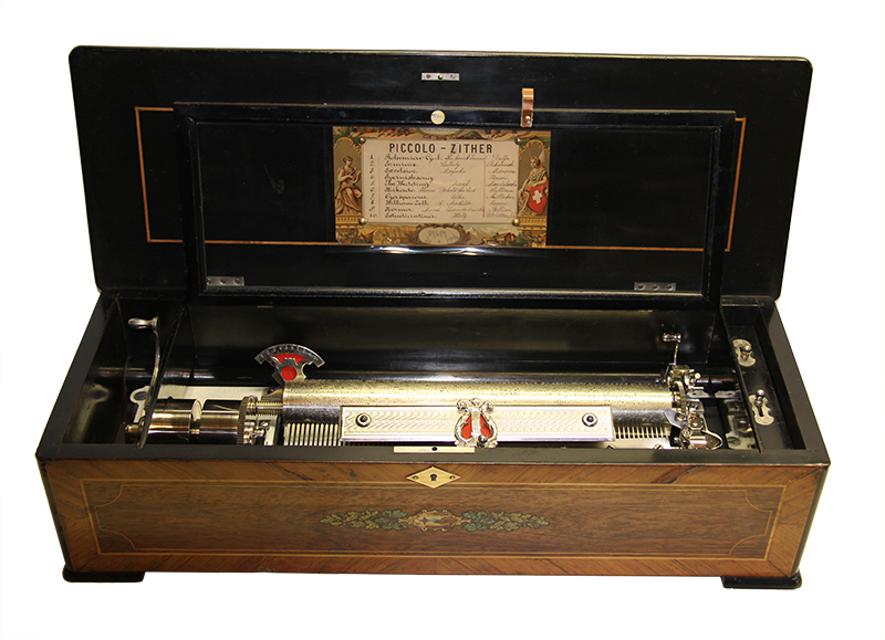 Piccolo-Zither-Cylinder-Music-Box