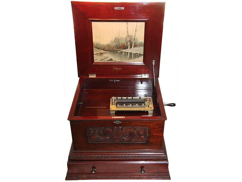 Olympia 14 Inch Disc Music Box With Single Comb